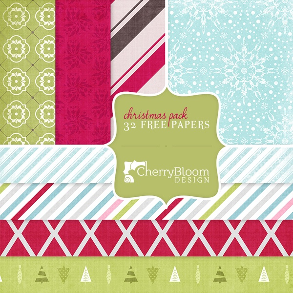 FREE 4 Christmas Paper Packs
