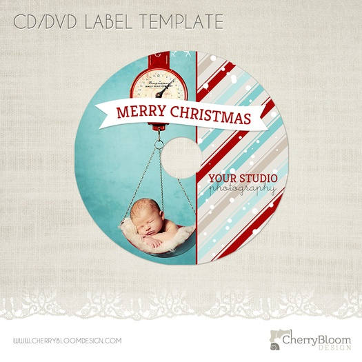 christmas cd dvd label photography cd label template cd06